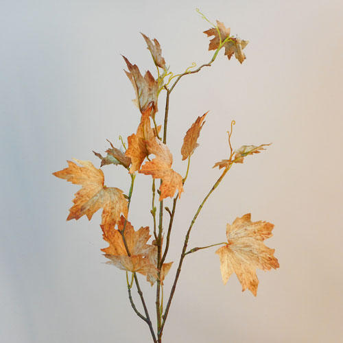 Artificial Maple Leaves Gold and Russet - MAP018 J4
