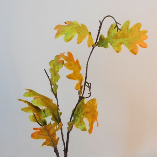 Artificial Oak Leaves Branches Autumn Green - OAK016 EE1