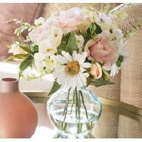 Artificial Flower Arrangement | Pink Roses and Daisies - RHV018