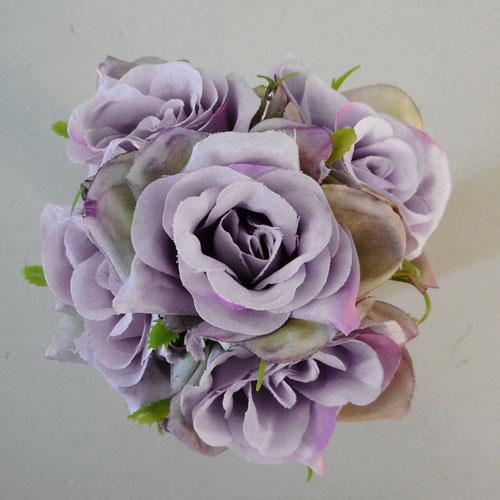 Seven Mauve Wire Roses